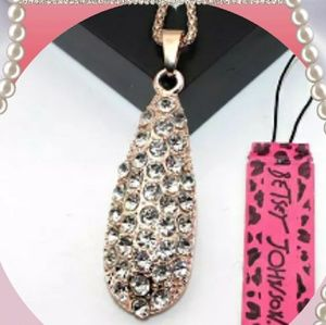 Betsey Johnson Drop Necklace
